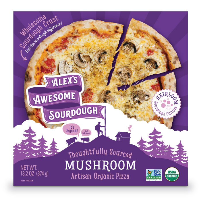 Mushroom Sourdough Pizza