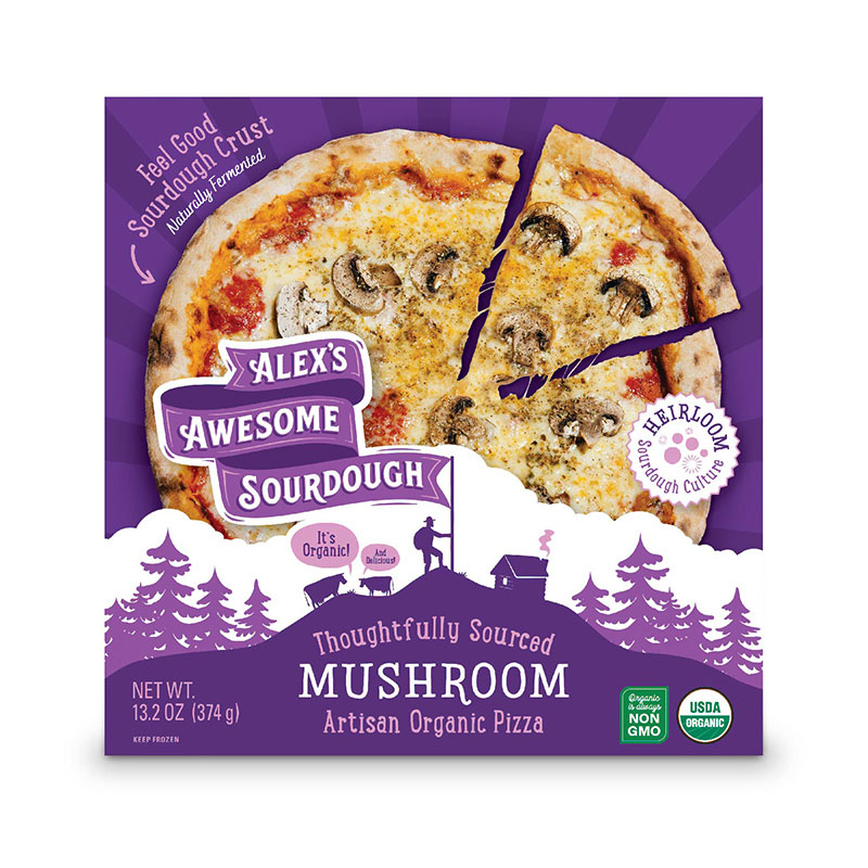 Mushroom Sourdough Pizza