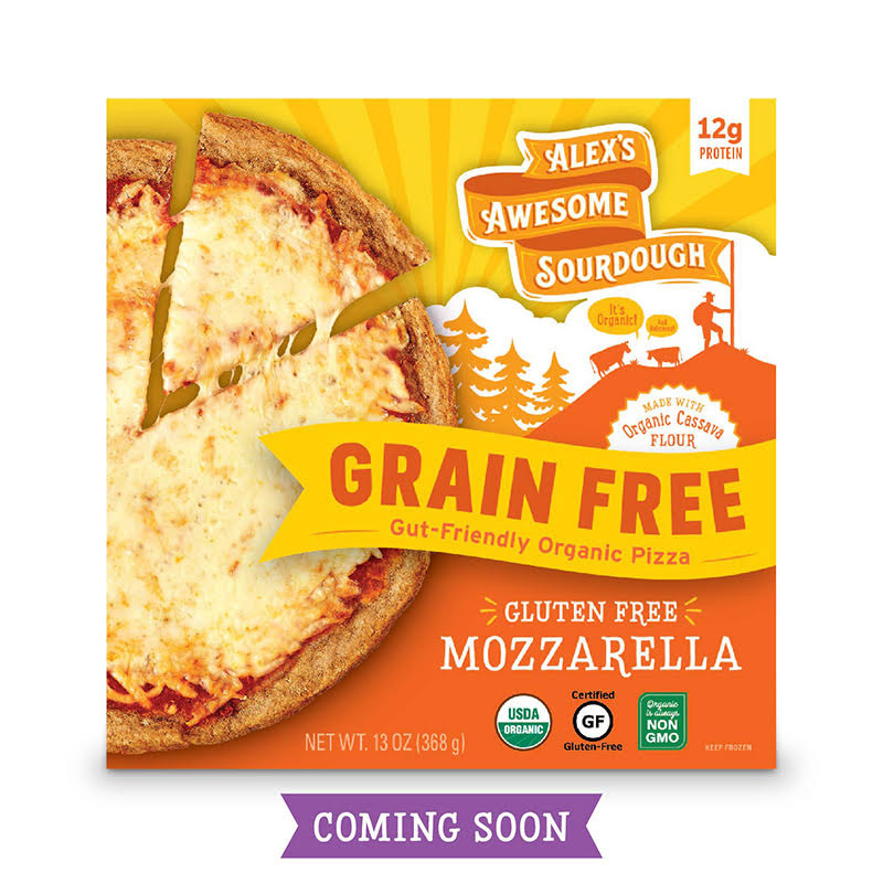 Grain Free Mozzarella Sourdough Pizza